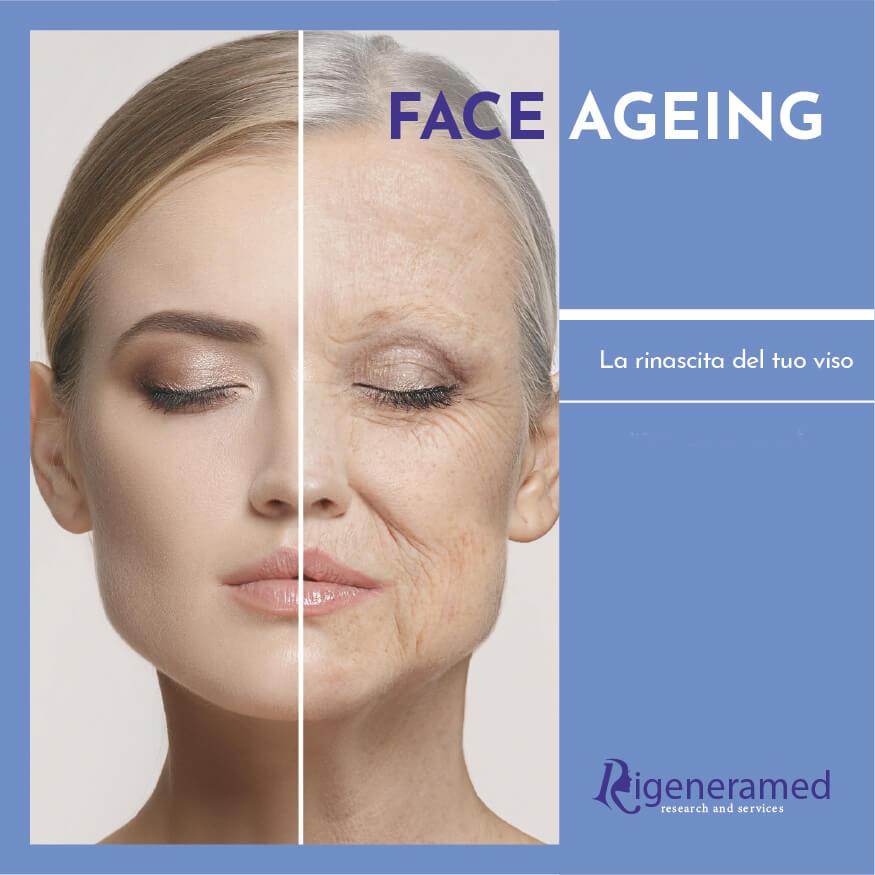 rughe, perdita di elasticità e di tono della pelle del viso: face ageing ringiovanimento del viso trattamenti di medicina estetica Biomedic Clinic & Research