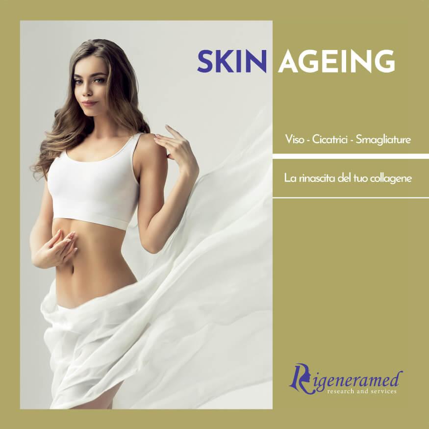 invecchiamento delle pelle: trattamento di ringiovanimento della pelle del viso medicina estetica